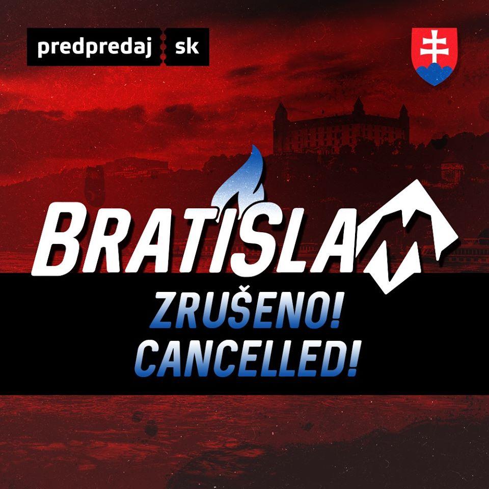 Wrestlingová show na Slovensku odložena na neurčito!